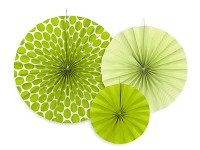 Rozety závěsné - zelené - 3ks
