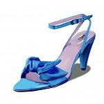 Svatební obuv - sandál - tyrkysový s mašlí - vel.37