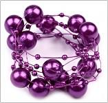 Perličky na silikonu - purpurové velké