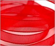 Šifonová stuha červená 6mm -1m