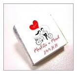 Čokoládka svatební mini - na kole