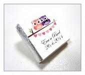 Čokoládka svatební mini - sovičky