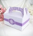 Krabička na výslužku - s ouškem - sv.fialová vzor