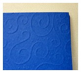 Tvrdý grafický papír - tm.modrý s ražbou - A4