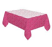 Plastový party ubrus - růžový s puntíky