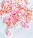 Cukrářské zdobení srdíčka - červeno-růžovo-bílá - 30g
