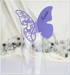 Motýlek jedno křídlo II. - jmenovka - fialový