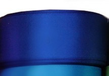 Stuha saténová 40 mm - magicky modrá - 1m