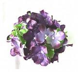 Vazbový květ hortenzie - tmavě fialový