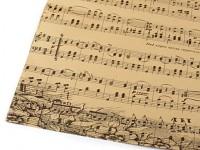 Dekorační papír - vintage noty 50 x 75 cm