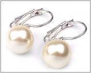 Náušnice - perla krémová 10mm