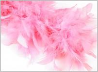 Boa - krůtí peří - růžové