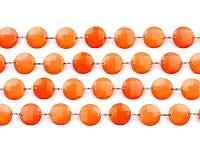 Girlanda diamanty - oranžové - 1ks