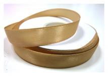 Stuha saténová 6 mm  - sv.zlatá - 1m