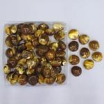 Plastové kamínky hnědé žíhané