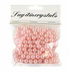 Korálky perličky - sv. růžové 8 mm - 150 ks