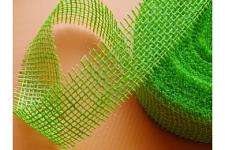 Stuha jutová 50 mm - zelená - 1m