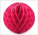 Honeycomb - koule tm.růžová - 30cm