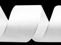 Stuha taftová 40mm/10m - bílá
