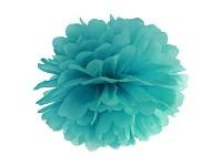 Pom-pom - koule tyrkysová - 35 cm