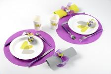 Prostírání (klubová dečka) z vlizelínu - fialová - 2 ks