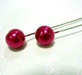 Špendlík  - fuchsia perla velká - 1ks
