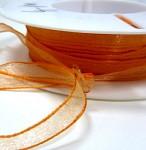 Stuha šifon 10mm - oranžová - 1m
