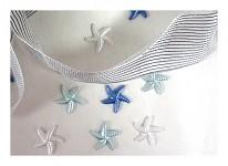 Hvězdice s lepítky - mix modro-bílý - 12ks