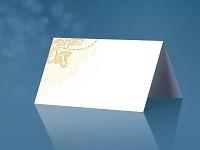 Jmenovka bílo - zlatá - stojací