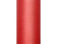 Tyl dekorační 15cm/9m - červený