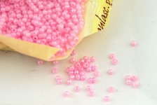 Korálky perličky - bílé 5 mm - 5g