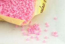 Korálky perličky - sv.růžové 3 mm - 5g