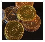Svatební mince zlaté (žluté)