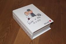Dřevěná krabička na přání (peníze) - svatební román