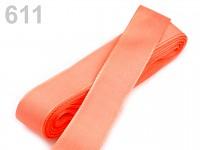 Taftová stuha - 25mm/10 m - lososová