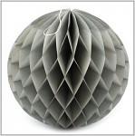 Honeycomb - koule sv.šedá - 30cm