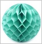 Honeycomb - koule sv.tyrkysová - 30cm