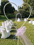Svatební dekorace - stojan srdce - zápich - půjčovna