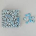 Skleněné kamínky modré perleťové