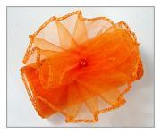 Organza stuha - oranžová