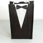 Dárková taška - jutová oblek na 2 láhve
