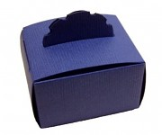 Dárková krabička - modré dřevo