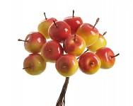 Jablíčka na drátku žlutooranžová - 12ks