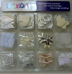 Dekorace scrapbook - svatba - mix - 12 druhů