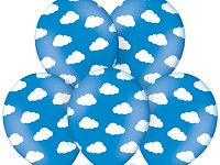 Balonek - modrý s obláčky - 1ks