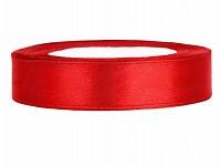 Saténová stuha 10mm/ 23 m  - červená