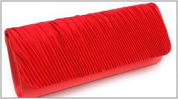 Společenská kabelka plisovaná - červená