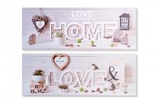Obraz světelný 80 cm - LOVE, HOME