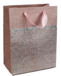 Dárková taška třpytivá - růžová