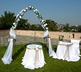 Svatební oblouk - slavobrána oblouk velký - půjčovna